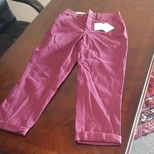 Gibson Latimer maroon chino ankle pants size 4 NWT
